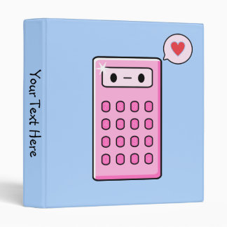 Calculator Love 3 Ring Binder