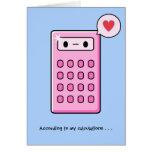 Calculator Love Greeting Card