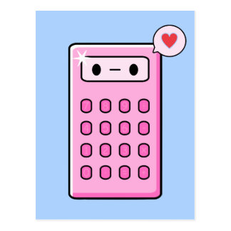Calculator Love Postcard
