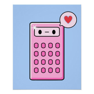Calculator Love Poster