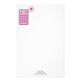 Calculator Love Custom Stationery