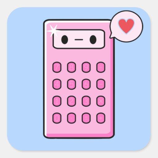 Calculator Love Sticker