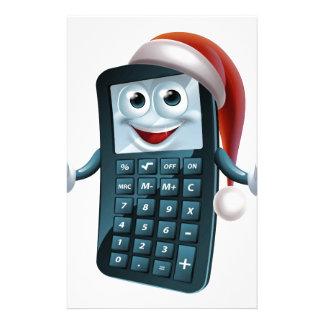 Calculator math christmas character stationery design