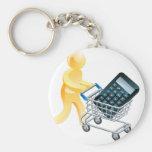 Calculator mouse trolley man keychain