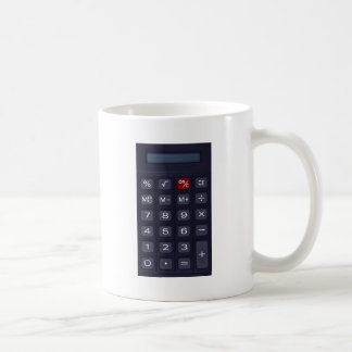 calculator classic white coffee mug