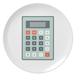 Calculator Party Plates