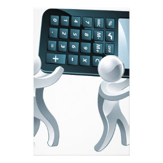 Calculator silver people customized stationery