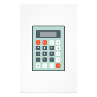 Calculator Customized Stationery