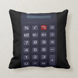 calculator throw pillow