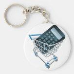 Calculator trolley concept key chain