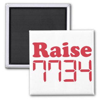 "Calculator words -  ""Raise Hell"" Refrigerator Magnets"