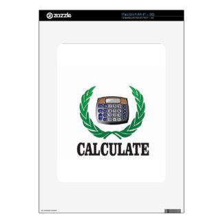 calcule el helecho calcomanías para iPad