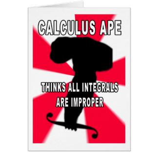 Calculus Ape Greeting Card