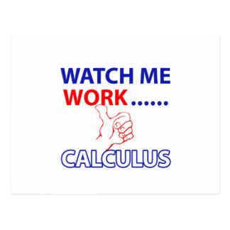 CALCULUS DESIGN POSTCARD