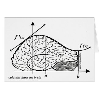 Calculus Hurts my Brain Greeting Card