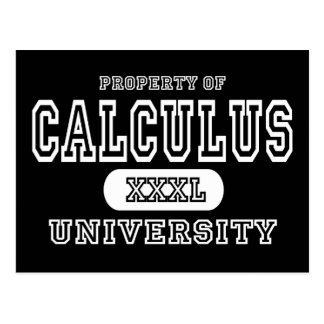 Calculus University Dark Postcard