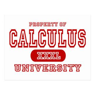 Calculus University Postcard