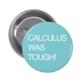 Calculus Was Tough! Pinback Buttons