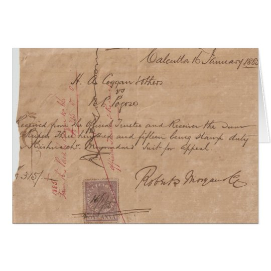 Calcutta 1885 card