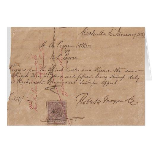 Calcutta 1885 greeting card