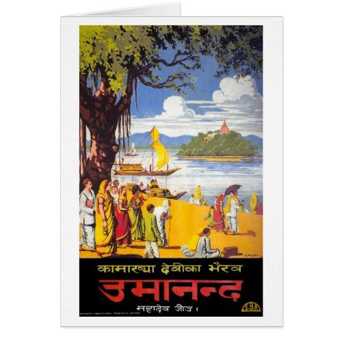 Calcutta, India Restored Vintage Travel Poster