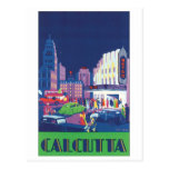 Calcutta Vintage Travel Poster Post Cards