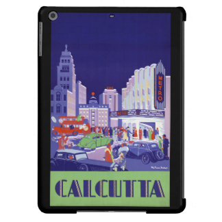 Calcutta Vintage Travel Poster Restored iPad Air Cover
