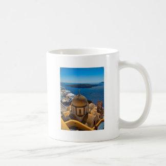 Caldera Church in Santorini Greece Coffee Mug