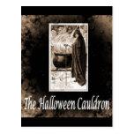 Caldera de Halloween del vintage Postal