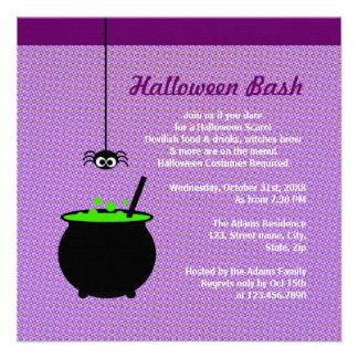 Caldera de Halloween Invitacion Personal