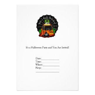 "Caldera de Halloween Invitación 5"" X 7"""