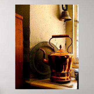 Caldera de té de cobre en Windowsil Impresiones