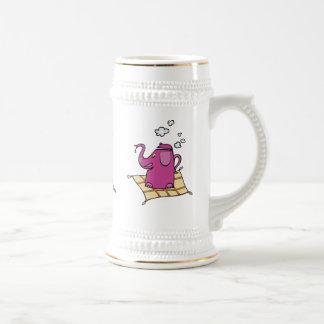 Caldera de té del elefante del vuelo jarra de cerveza