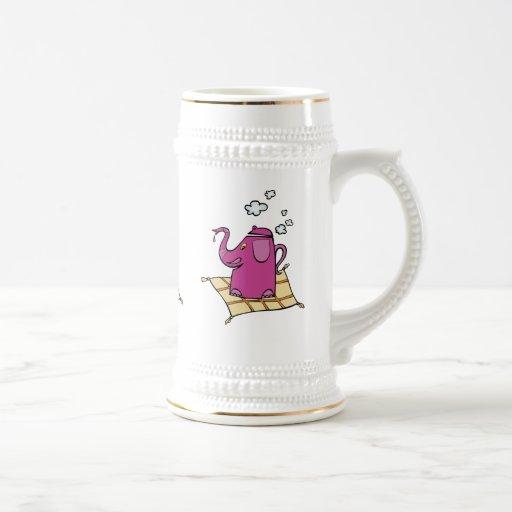 Caldera de té del elefante del vuelo taza