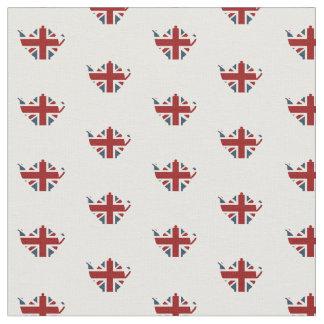 Caldera de té inglesa patriótica de Union Jack Telas
