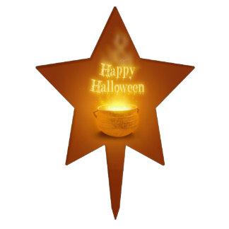 Caldera del feliz Halloween - primero de la torta Decoraciones De Tartas