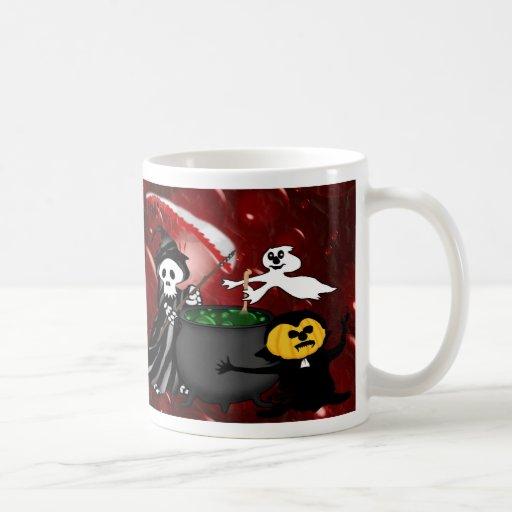 Caldera del parca y del fantasma taza de café