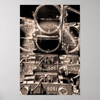 Caldera del tren del vapor y almacenador intermedi póster