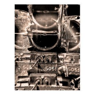 Caldera del tren del vapor y almacenador tarjetas postales