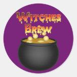 Caldera Halloween del Brew de las brujas del KRW Pegatina