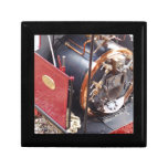 Caldera locomotora miniatura de vapor caja de joyas