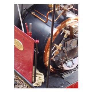 Caldera locomotora miniatura de vapor postal