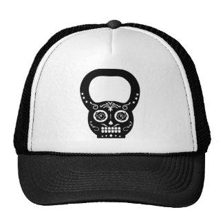 Caldera negra Bell del cráneo del azúcar Gorras De Camionero
