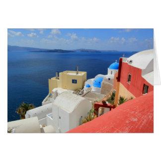 Caldera, Oia, Santorini, Greece Card