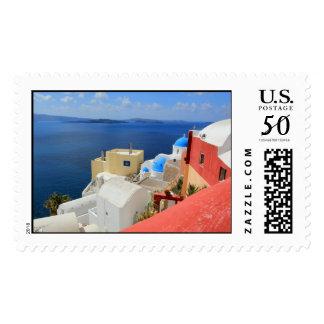 Caldera, Oia, Santorini, Greece Postage