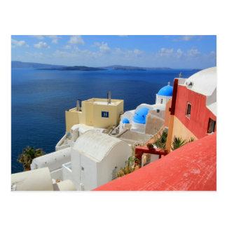 Caldera, Oia, Santorini, Greece Postcard