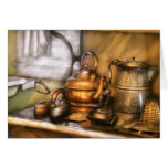 Caldera - potes e hierros del té tarjetón
