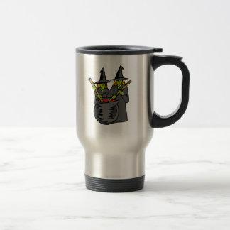 Caldera stiring witched dos taza de café