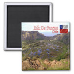 Caldera volcánica de los Kau de Chile Isla De Imán Cuadrado