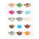 Calderas de té multicoloras tarjetón